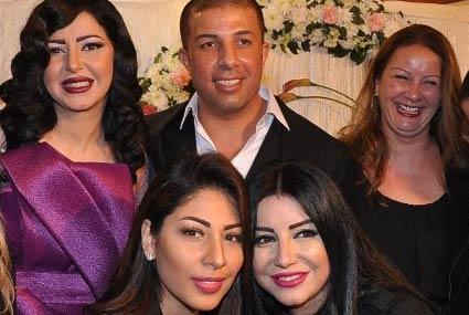 صور زفاف إيناس النجار بحضور أصدقائها من الفنانين