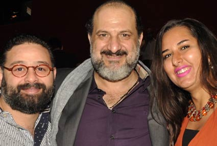 """ليلى علوي تصطحب ابنها والصاوي برفقة زوجته في افتتاح سينما """"دي بوكس"""""""