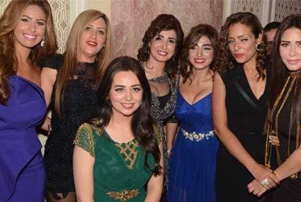أجمل فساتين النجمات في حفل زفاف ابن المخرج محمد النقلي