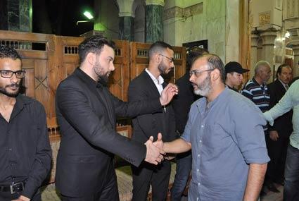 28 صورة من عزاء والد مدين... حسام حبيب وتامر عاشور بين المعزيين