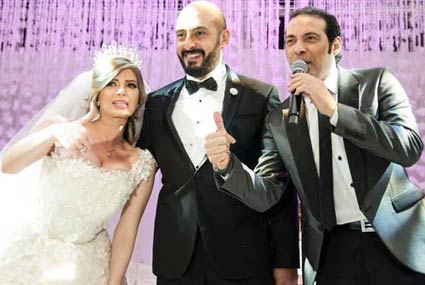 بالصور.. سعد الصغير وحجازى متقال وهدى يحييون حفل زفاف ناريمان وأحمد