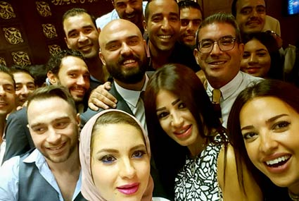 12 صورة من عقد قران أحمد صلاح حسني .. زوجته مدربة زومبا شهيرة