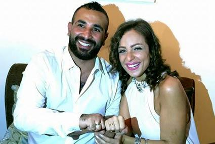 صورة- ريم البارودي تتجاهل خلافاتها مع أحمد سعد وتروج لآخر أعمالهما