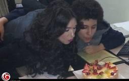 """صورة- دينا تحتفل بعيد ميلاد """"نور عنيها"""" علي"""