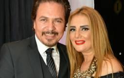 رانيا محمود ياسين ومحمد رياض في حفل زفاف حنان مطاوع وأمير اليماني