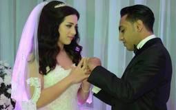 محمد أسامة وعروسه رويدا سالم
