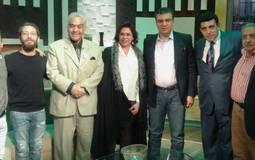 بالصور- ظهور ابناء عماد حمدي وأمين الهنيدي ورياض القصبجي مع عمرو الليثي