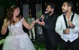 تامر حسني في حفل زفاف ابنة أحمد صيام