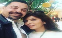 صورة- أصالة تتغزل في زوجها طارق العريان