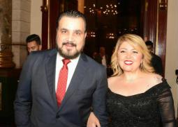 مجدي كامل وزوجته مها أحمد في حفل زفاف ابن صبري عبد المنعم