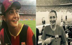 غادة عبد الرازق تشجع نادي برشلونة