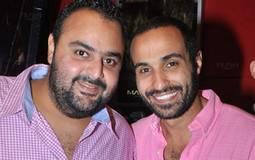 أحمد فهمي وشيكو بطلي الفيلم خلال احتقالهما بالعرض الخاص
