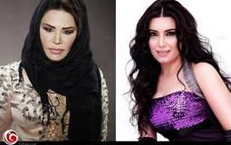 الممثلة المصرية عبير صبري والمطربة الإماراتية أحلام