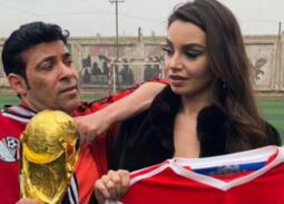 بالصور- سعد الصغير مع الراقصة جوهرة في روسيا من أجل كأس العالم