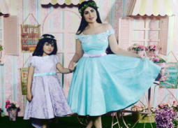 حليمة بولند مع ابنتها الكبرى ماريا.