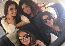 بالصور- درة تسافر مع آسر ياسين ومنى زكي وغادة عادل وحميدة إلى الأقصر