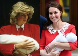 بالصور- كيت ميدلتون تعيد إطلالة الأميرة ديانا فور خروجها من المستشفى