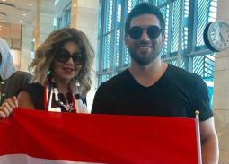 هؤلاء الفنانون سافروا روسيا لمساندة المنتخب المصري