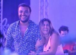 10 صور من حفل رامي صبري بالساحل الشمالي .. منة فضالي تحضر بالهوت شورت وتشارك بالرقص
