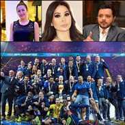 بالصور والفيديو- ردود فعل المشاهير على فوز فرنسا بكأس العالم.. بعضهم تعاطف مع كرواتيا