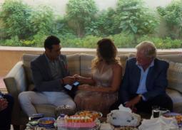 عقد قران منة حسين فهمي والمحامي طارق جميل