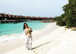 9 صور- المذيعة فرح علي تقضي شهر العسل في جزر المالديف