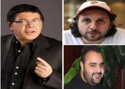 صورة- أحمد آدم يجتمع مع شيكو وهشام ماجد.. الضحك كله