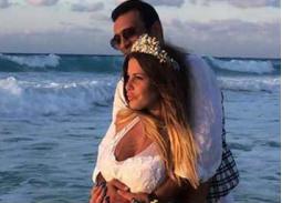 زوج منة حسين فهمي يوجه لها رسالة رومانسية احتفالا بعيد الحب