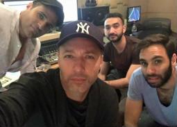 """صورة- كواليس تسجيل ألبوم فريق """"واما"""""""