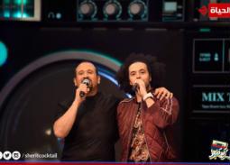 """بالصور والفيديو- عبد الفتاح الجريني أول ضيوف هشام عباس في """"شريط كوكتيل"""""""