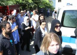 وفاء عامر في جنازة المخرج عمر الشيخ