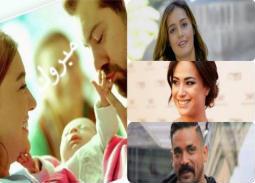 """""""حياة"""" ابنة عمرو يوسف وكندة علوش حديث الوسط الفني.. هكذا استقبلها النجوم والمشاهير"""