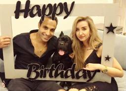 احتفال هنا الزاهد بعيد ميلاد أحمد فهمي