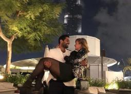 7صور- لحظات رومانسية لأحمد فلوكس وهنا شيحة في دبي