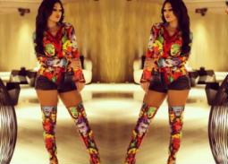 شاركت الفنانة هيفاء وهبي جمهورها بإطلالتها من إحدى الحفلات ظهرت فيها بشورت قصير وقميص وحذاء برقبة عالية