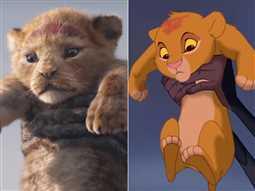 بالفيديو- هل تشابه الإعلان التشويقي لفيلم The Lion King بنسخته الحيه مع نفس المشاهد بالفيلم الأصلي؟