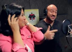 بالفيديو- لأول مرة منى الشاذلي مغنية راب مع أحمد مكي