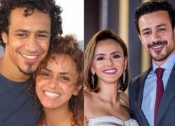 أحمد داوود وزوجته علا رشدي