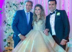 خالد يوسف في زفاف ابنة شقيقه محمد يوسف