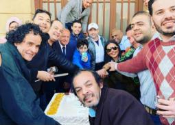 """لطفي لبيب وساندي علي وريكو وعلاء مرسي يحتفلون ببداية تصوير """"بورصة مصر"""""""