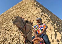 """مايك تايسون يزور الأهرامات على هامش زيارته لمصر للمشاركة في فيلم """"حملة فرعون"""""""