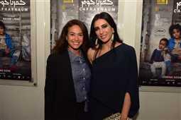 """بالصور: هند صبري ولبلبة مع نادين لبكي بالعرض الخاص لـ""""كفر ناحوم""""  في مصر"""