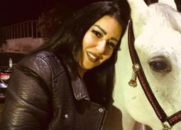 سمية الخشاب مع الحصان