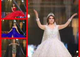 27 صورة- دينا فؤاد بفستان الزفاف في عرض أزياء
