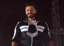 تامر حسني في حفل بنادي الزهورفي القاهرة الجديدة