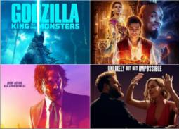 """شهر مايو- 10 أفلام أجنبية في دور السينما.. """"علاء الدين"""" في مواجهة """"جودزيلا"""" و""""بيكاتشو"""""""