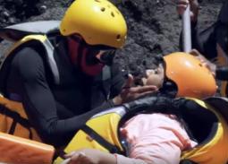 """بالفيديو- شيماء سيف أول ضحية بدون """"تييت"""" في """"رامز في الشلال"""""""