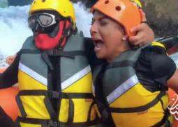 """بالفيديو- هند البلوشي تكشف حقيقة فبركة حلقتها في""""رامز في الشلال"""""""