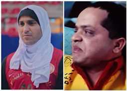 صورة- محمد هنيدي يسخر من حجاب أحمد فهمي والأخير يرد على طريقته
