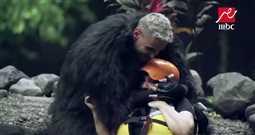 """بالفيديو- ندى بسيوني تبكي بعد رؤية رامز جلال أمامها في """"رامز في الشلال"""""""